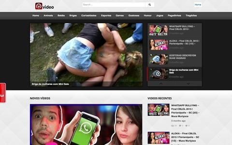 Screenshot of Home Page yvideo.com.br - Yvideo | Melhores Videos da Internet - captured Aug. 30, 2015