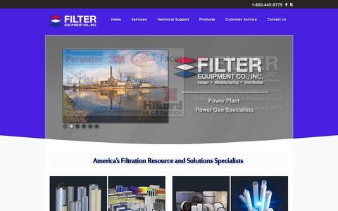 Screenshot of Home Page filter-equipment.com - Filter-Equipment: Home - captured Oct. 5, 2014