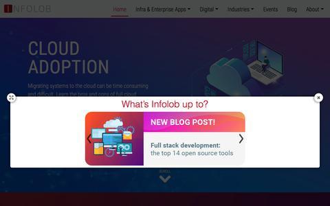 Screenshot of Home Page infolob.com - Infolob – Consulting | Digital | IT Services - captured Aug. 15, 2018