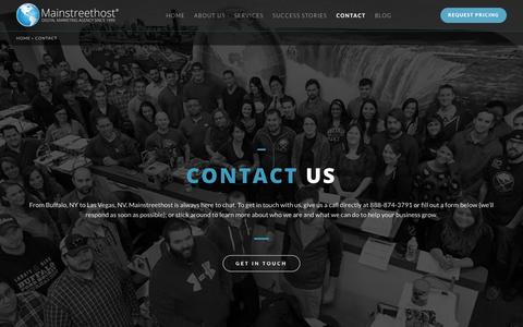 Screenshot of Contact Page mainstreethost.com - Mainstreethost | 888-874-3791 | Buffalo, NY | Las Vegas, NV - captured Oct. 28, 2017