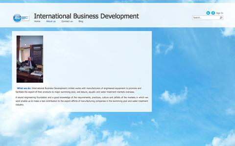 Screenshot of About Page ibdevelopment.eu - About us - captured Oct. 6, 2014