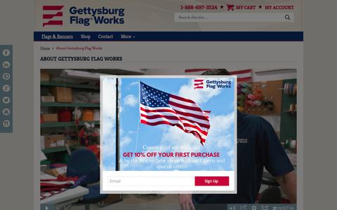 Screenshot of About Page gettysburgflag.com - About Gettysburg Flag Works - captured Aug. 2, 2017