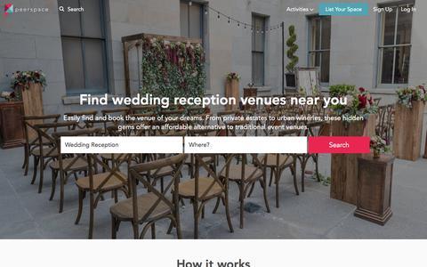 Top 10 Wedding Reception Venues Near You | Peerspace