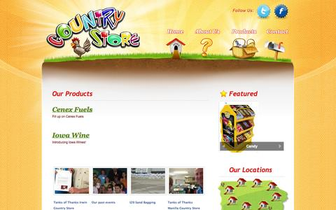 Screenshot of Products Page ksoil.com - Country Store | Products - captured Oct. 26, 2014