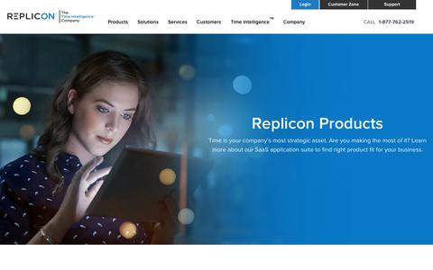 Screenshot of Products Page replicon.com - Time Management Apps for Your Business - Replicon - captured Nov. 8, 2017