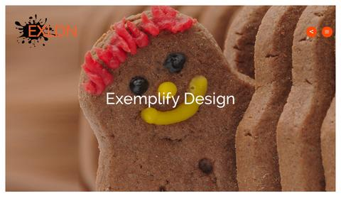 Screenshot of Home Page exldn.com - Exemplify Design - Web & Graphic Design Agency Watford - captured Dec. 12, 2015