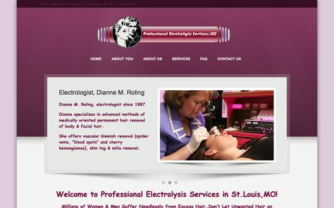 Screenshot of Press Page professionalelectrolysisservices.com - Laser Hair Removal West County South County Mo - professionalelectrolysisservices.com - captured Feb. 1, 2016