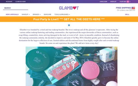 Screenshot of About Page glambot.com - About - captured July 19, 2018
