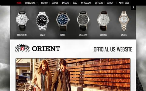 Screenshot of Home Page orientwatchusa.com - Automatic Watches   Orient Watch USA - captured Jan. 19, 2016