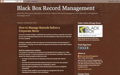 Screenshot of Blog blackboxrm.com - Black Box Record Management - captured Oct. 5, 2014