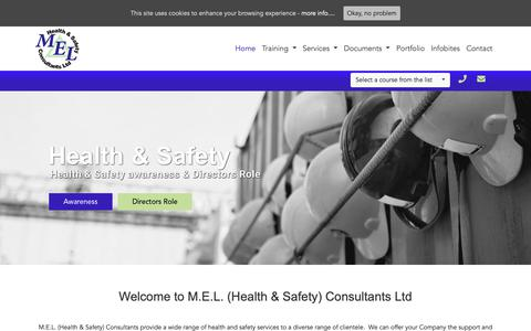 Screenshot of Home Page melsafety.co.uk - Home - M.E.L. (Health & Safety) Consultants Ltd - captured Dec. 16, 2018