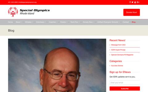 Screenshot of Blog specialolympicsri.org - Special Olympics RI Blog - News, Events and More! - captured April 8, 2017