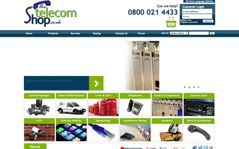 Screenshot of Home Page thetelecomshop.co.uk - Telephone Systems, Avaya IP Office, Panasonic, BT Versatility, Office Phones, Conference Phones, Headsets and CCTV - captured Sept. 19, 2014