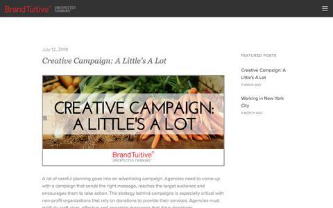 Screenshot of Blog brandtuitive.com - Blog - captured Aug. 3, 2018