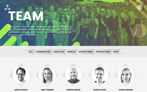 Screenshot of Team Page 3sidedcube.com - Meet the team   People who love making cool things - 3 SIDED CUBE - captured Sept. 20, 2018