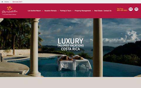 Screenshot of Services Page stayincostarica.com - Our Guest Services | Los Suenos Rentals - captured Sept. 21, 2018
