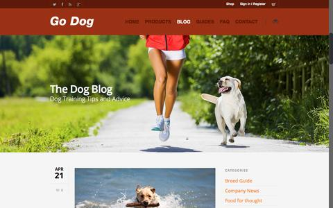 Screenshot of Blog godogenergy.com - The Dog Blog - captured March 7, 2016