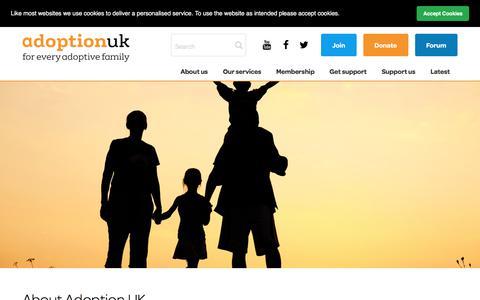 Screenshot of About Page adoptionuk.org - Adoption UK Charity | About Adoption UK - captured July 29, 2018