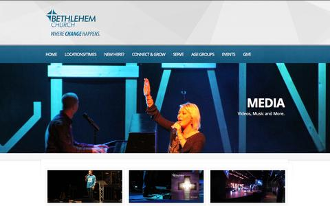 Screenshot of Press Page bethlehembc.com - Media  |  Bethlehem Church | Gastonia / Belmont / Bessemer City N.C.  | a contemporary church in Gastonia NC - captured Oct. 5, 2014