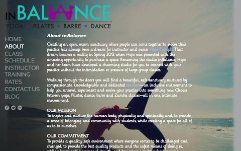 Screenshot of About Page inbalancesanantonio.com - About  - inBalance - San Antonio - captured Oct. 6, 2014