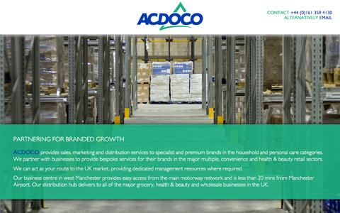 Screenshot of Services Page acdoco.com - Services | Acdoco - captured Feb. 5, 2016