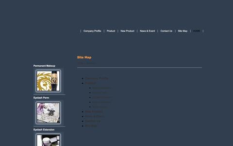 Screenshot of Site Map Page makeup-bella.com captured Nov. 22, 2016