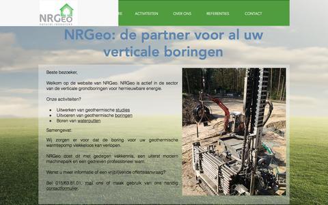 Screenshot of Team Page nrgeo.be - NRGeo | De partner voor uw geothermische boring voor uw warmtepomp - captured Nov. 30, 2016