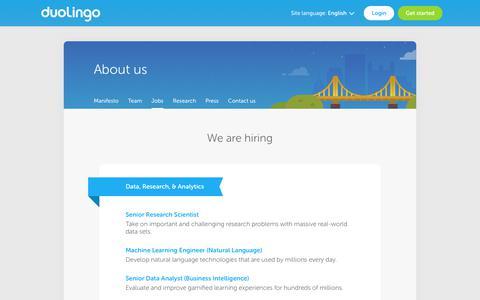 Jobs - Duolingo