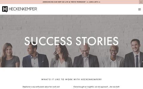 Screenshot of Testimonials Page heckenkemper.com - TESTIMONIALS — HECKENKEMPER - captured May 17, 2017