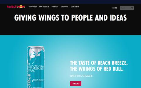 Screenshot of Products Page redbull.com - Energy Drinks Red Bull - Products :: Energy Drink :: Red Bull USA - captured July 19, 2019