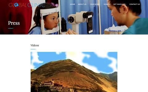 Screenshot of Press Page global-clinic.org - Global Clinic - captured Nov. 8, 2016
