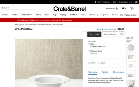 White Pearl Bowl   Crate and Barrel