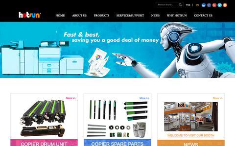 Screenshot of Home Page hotsunimaging.com - Professional manufacturer for copier drum units – Hotsun Imaging - captured Sept. 30, 2018