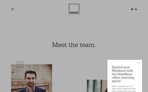 Screenshot of Team Page headlines.uk.com - Headlines - Team - captured Sept. 27, 2018