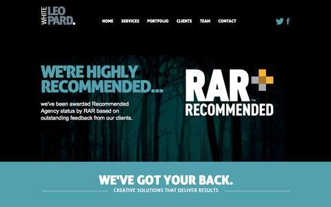 Screenshot of Home Page whiteleopard.co.uk - White Leopard   Creative Design Agency based in Milton Keynes - captured Oct. 7, 2014