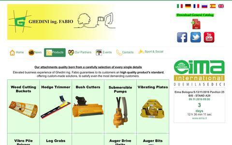 Screenshot of Products Page ghedini.com - Ghedini ing. Fabio & C. - Ghedini.com/eng/Products - captured Nov. 6, 2016