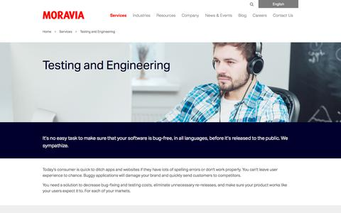 Testing and Engineering - Moravia