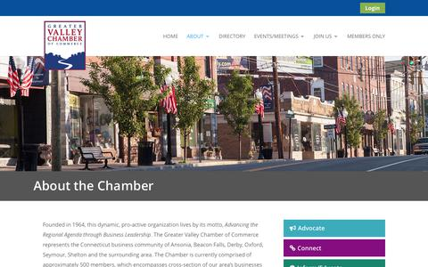 Screenshot of About Page greatervalleychamber.com - About - Greater Valley Chamber of Commerce - captured Sept. 6, 2017
