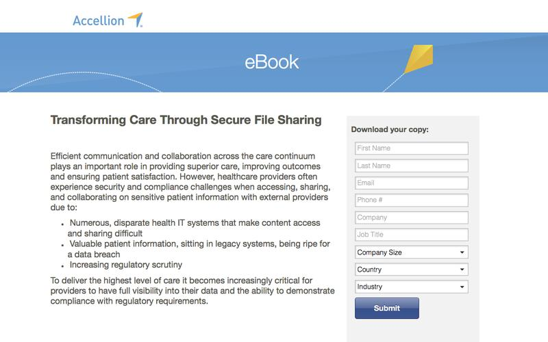 Transforming Care Through Secure File Sharing, eBook from Accellion
