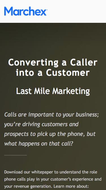 Marchex - Converting a Caller into a Customer