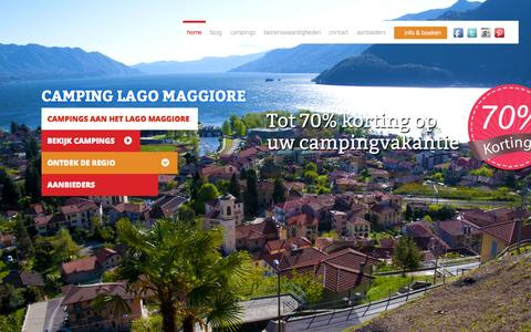 Screenshot of Home Page camping-lago-maggiore.nl - Camping Lago Maggiore- Campings Lago Maggiore - captured July 4, 2015