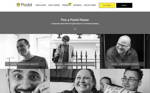 Screenshot of Team Page pockit.com - Pockit - Award Winning Online Account & MasterCard - Only 99p - captured Oct. 29, 2017