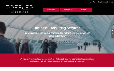 Screenshot of Services Page tofflerassociates.com - Strategic Business Advisors and Innovators Toffler | Toffler Associates - captured Feb. 27, 2016