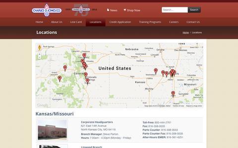 Screenshot of Locations Page cdjones.com - Locations - Charles D. Jones - captured Oct. 2, 2014
