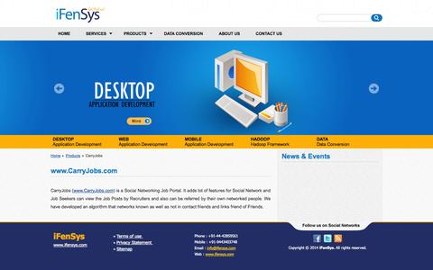 Screenshot of Products Page ifensys.com - iFenSys Software Solutions Pvt. Ltd | CarryJobs - captured Nov. 3, 2014