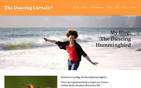 Screenshot of Blog thedancingcurtain.com - Blog — The Dancing Curtain® - captured Aug. 11, 2017