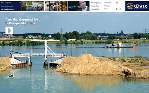 Screenshot of Home Page smals.com - Royal Smals specialised dredging - captured Feb. 12, 2016