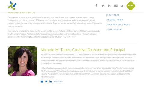 Screenshot of About Page tabercreative.com - About TCG Team  |  Adveritising Agency Roseville CA - captured Oct. 27, 2014