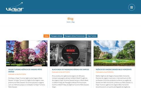 Screenshot of Blog viajarturismo.com.br - Melhor Blog de Viagens de Belo Horizonte - captured Dec. 2, 2016
