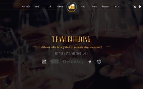Screenshot of Team Page brewspot.com - Team-Building – Brewspot - captured June 3, 2017